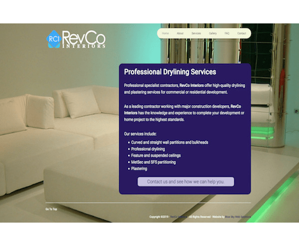 Screenshot of RevCo Interiors