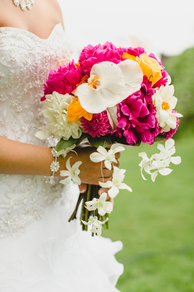 Peonies for brides bouquet in Makena Maui