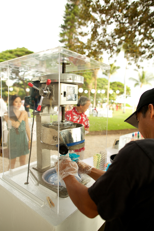 Shave ice bar for wedding