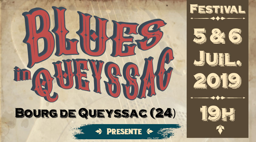 L'affiche Blues in Queyssac 2019