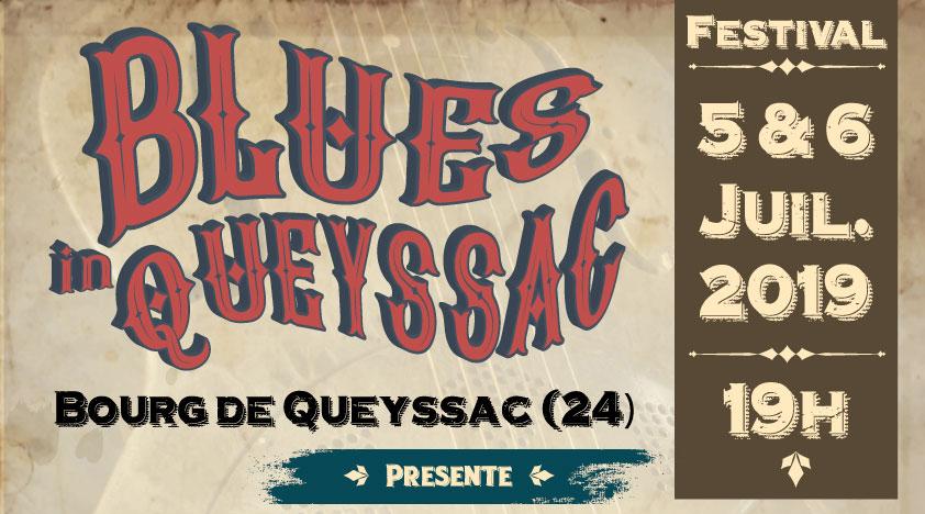 L'affiche Blues in Queyssac 2019