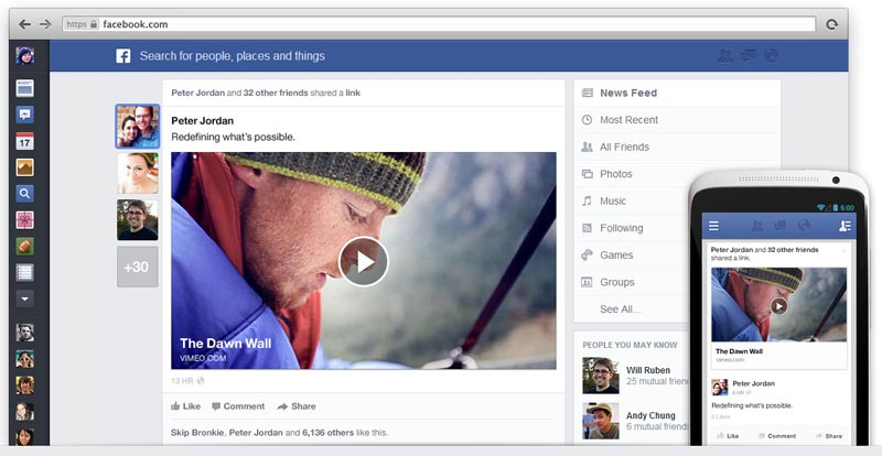 Facebook New News Feed March 2013