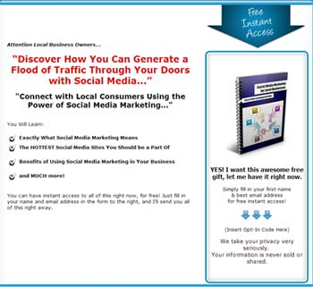 Email Marketing Tips Squeeze Page