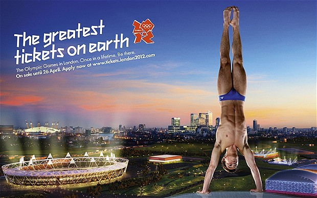 Once in a lifetime: Tom Daley advertising Olympic tickets Photo: LONDON 2012