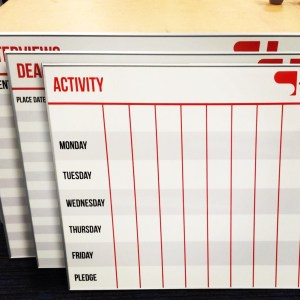 Printed Magnetic Whiteboards
