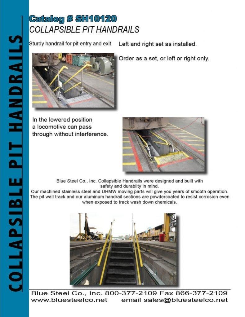 Collapsible Pit Handrails
