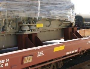 GE Locomotive Engine Flatcar Storage
