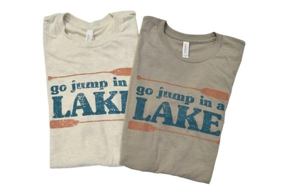 Go Jump in a Lake t-shirt folded