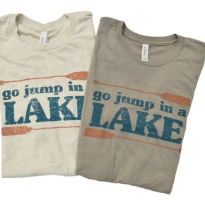 Go Jump in a Lake t-shirt folded