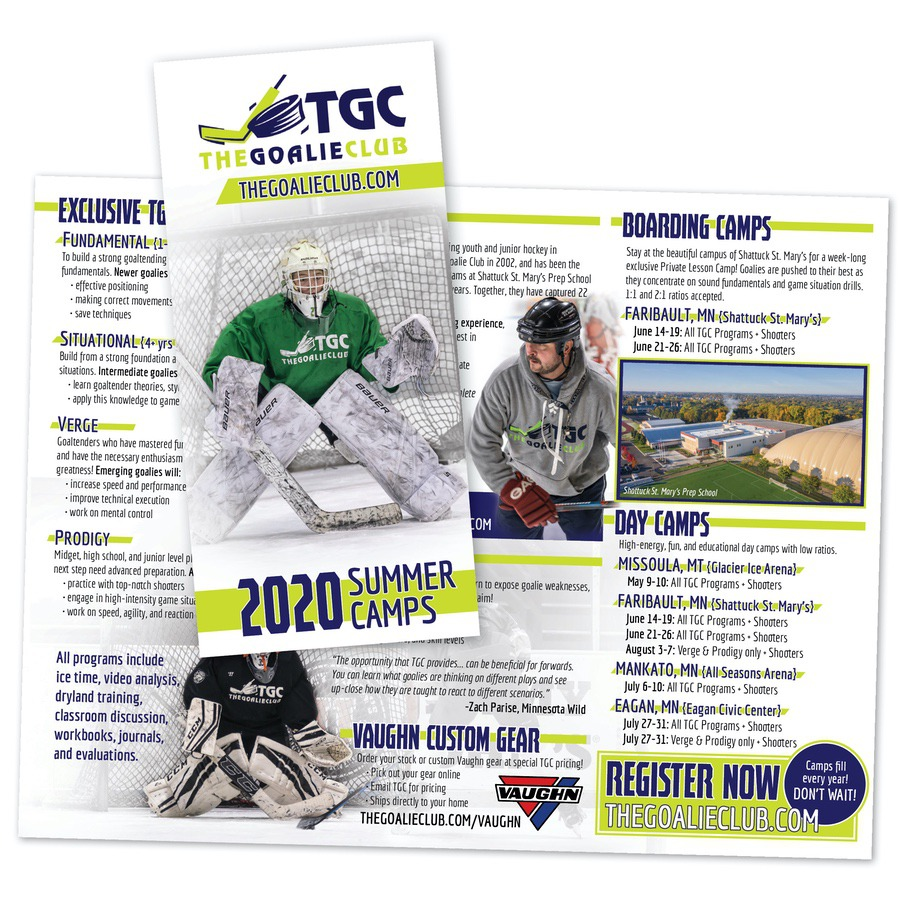 hockey camp brochure