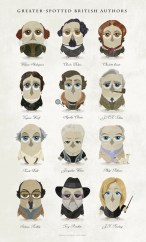 Great-authors-presented-as-owls-a-collage-poster