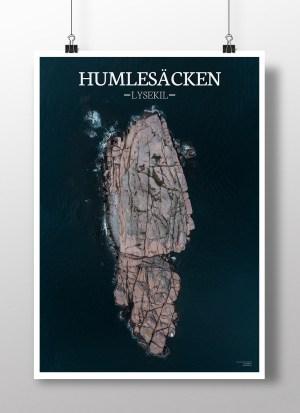 Poster av holmen Humlesäcken