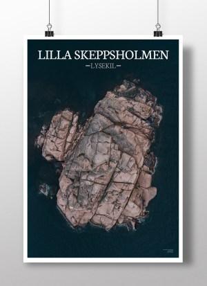 Poster av holmen Lilla skeppsholmen