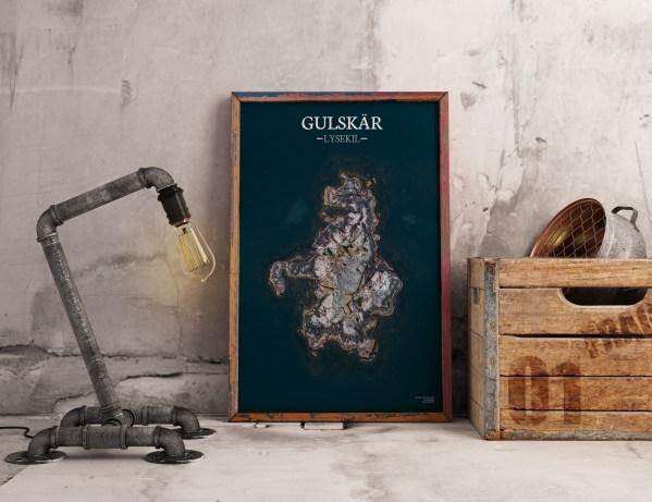 Poster av holmen Gulskär