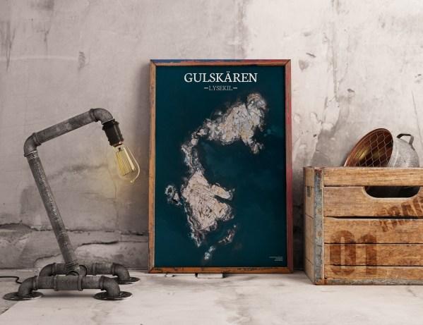 Poster av holmen Gulskären