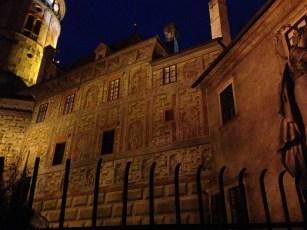 Exterior walls of the Cesky Krumlov Castle