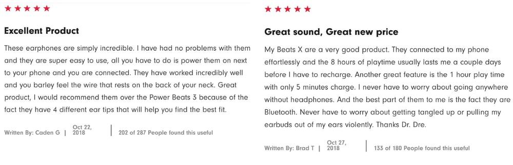 Kuvallinen arvostelu englannin kielellä Beats BeatsX