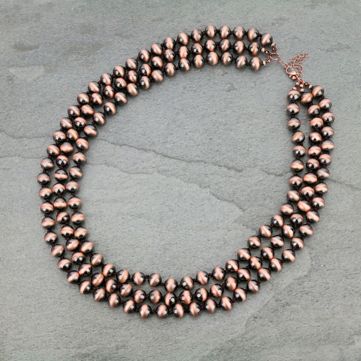 Navajo Pearl Layered Necklace-KN-0011/COP
