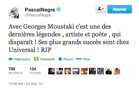 Pascal Nègre Moustaki