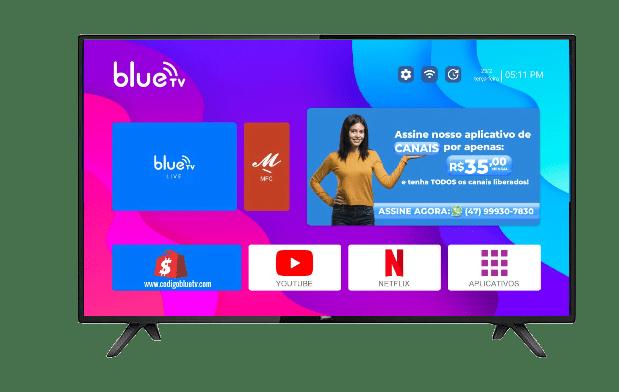 launcher blue tv