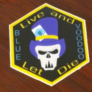 Blue Voodoo Hex Sticker