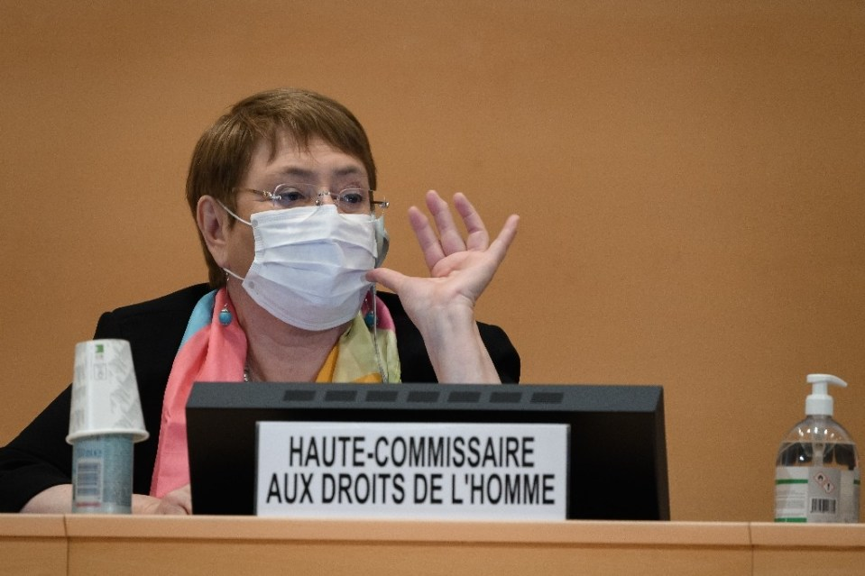 The text calls on UN rights chief Michelle Bachelet to include updates on police brutality against people of African descent in the United States and elsewhere at each future council session - Fabrice COFFRINI / ©AFP