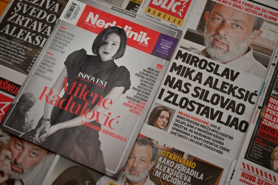 Actress Milena Radulovic has accused a famous Belgrade theatre teacher of raping her and abusing other students - Andrej ISAKOVIC / ©AFP