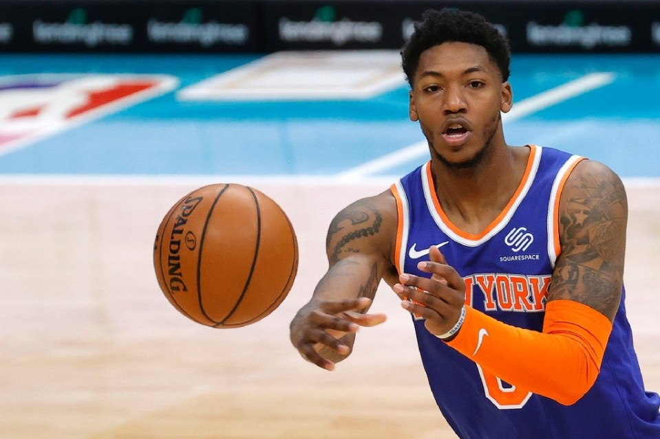 Elfrid Payton of the New York Knicks, which is welcoming back fans to Madison Square Garden for the first time in almost a year - Jared C. Tilton / ©AFP