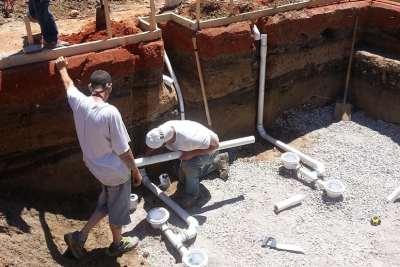 New Pool Construction Plumbing