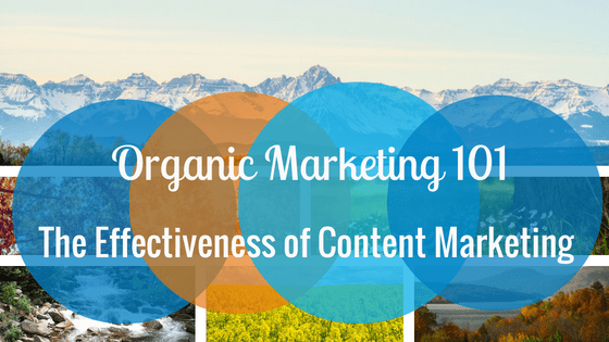 Organic Marketing 101 & The Effectiveness of Content Marketing