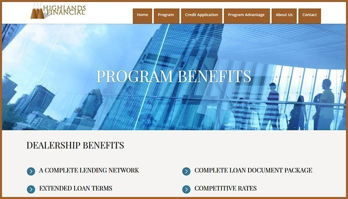 Highlands Financial Website