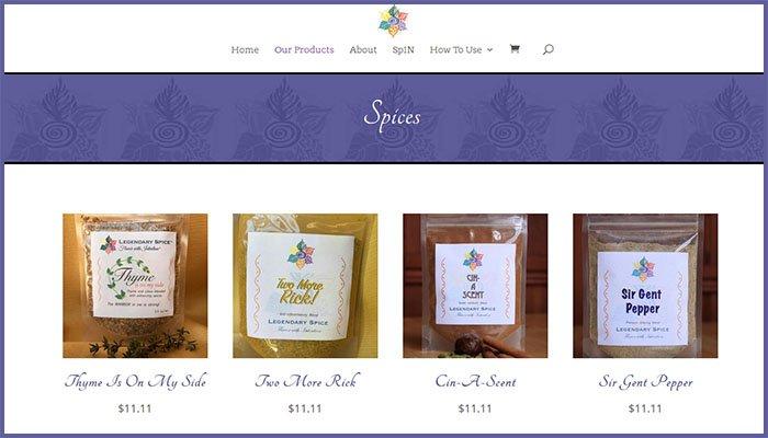 Legendary Spice Website