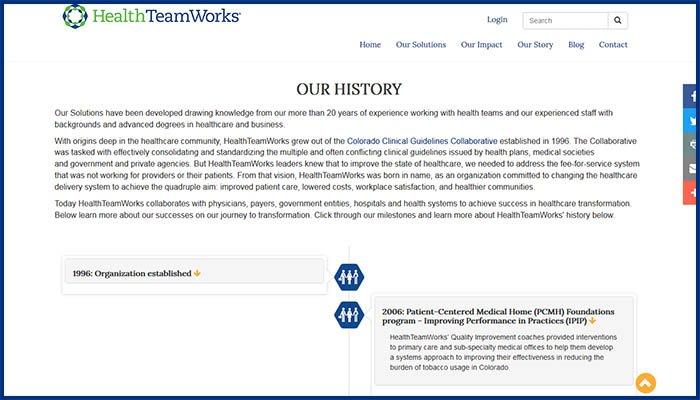 HealthTeamWorks Website