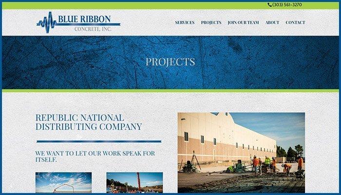 Blue Ribbon Concrete Website