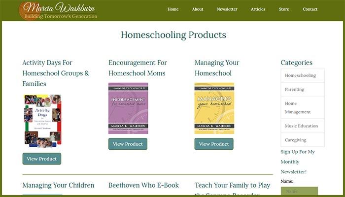 Marcia Washburn Website