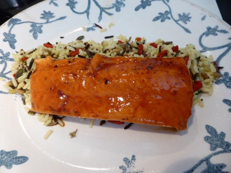 Salmón baja temperatura con salsa tereyaki