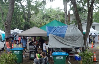 Under several Tents
