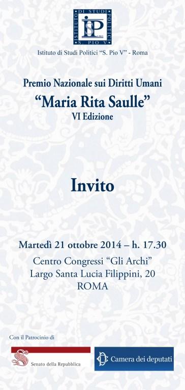 Premio Nazionale Diritti Umani 2014 - Riconoscimento Speciale a Wilma Massucco (Premio Maria Rita Saulle, Roma, 21/10/2014
