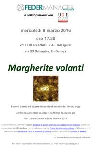 Margherite volanti a Genova - Gruppo Donne Minerva Liguria