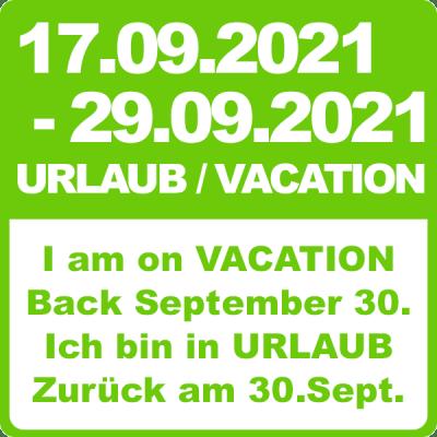 Urlaub Vacation 2021