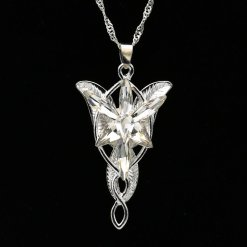 Arwen Evenstar Necklace The Elves Princess Fashion Crystal Silver Cubic Zirconia Stone Pendant For Women Wholesale