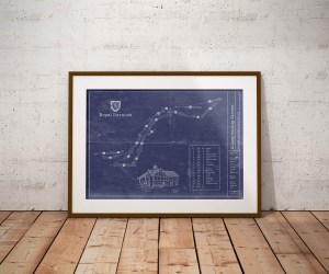 Vintage Royal Dornoch Golf Blueprint Poster