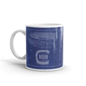 Baylor McLane Stadium Blueprint ceramic mug