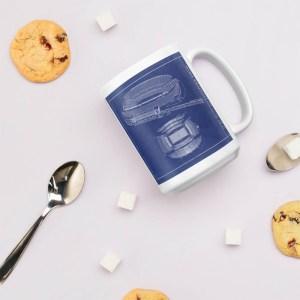 Chicago Soldier Field blueprint coffee mug