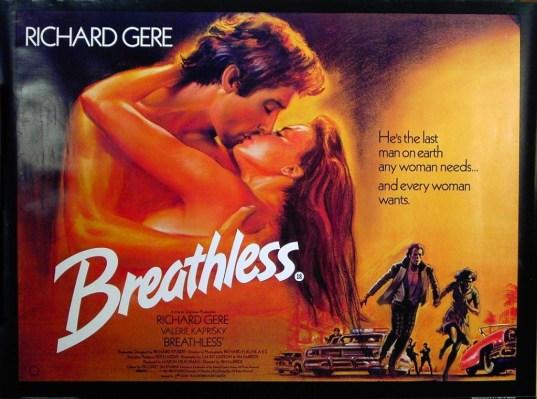 Breathless 1983 poster