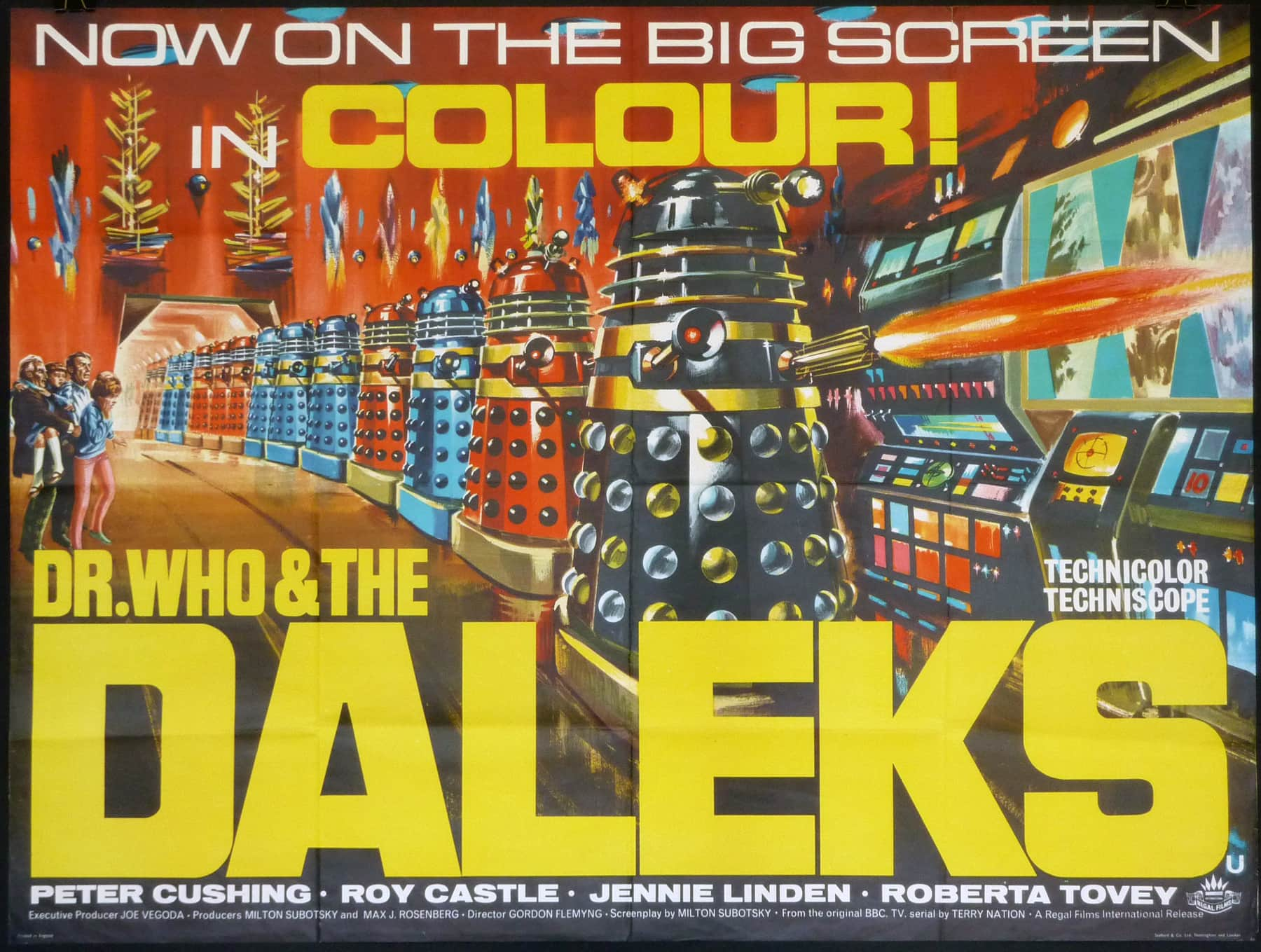 dr who and the daleks poster