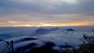 Beautiful sunrise at adam's peak!