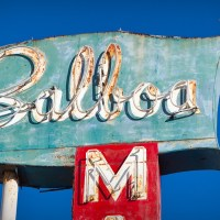 Balboa M - sign on Balboa Island, southern California | Blurbomat.com