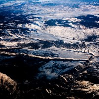 Contrasty Winter Scene - Mountains from the air | Blurbomat.com