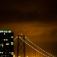 Bay Bridge Lens Flare - San Francisco | Blurbomat.com